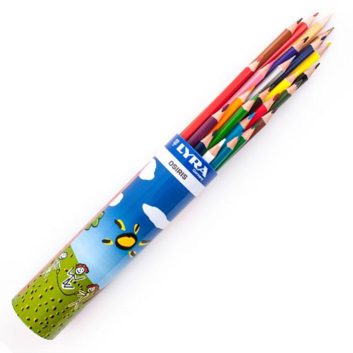 مداد رنگی جعبه لوله ای ۲۴ رنگ لیرا مدل Osiris