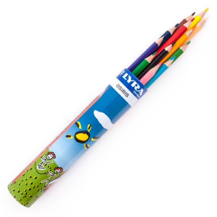 مداد رنگی جعبه لوله ای ۱۲ رنگ لیرا مدل Osiris