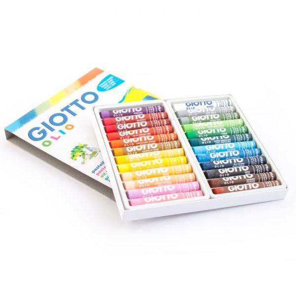 پاستل روغنی ۲۴ رنگ جیوتو مدل Olio