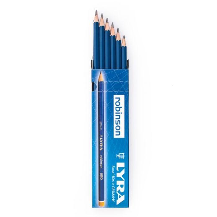 مداد مشکی ROBINSON 6B LYRA