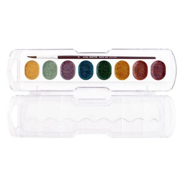آبرنگ ۸ رنگ اکلیلی جیوتو مدل Glitter