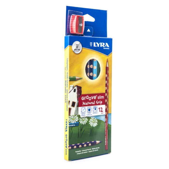 LYRA Groove Slim 12 Color Pencil Set Sharpener-2