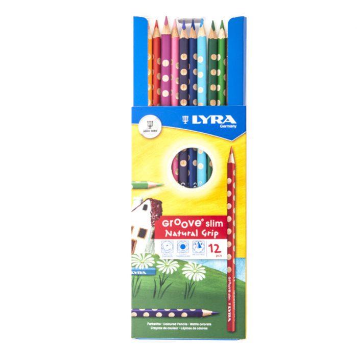 LYRA Groove Slim 12 Color Pencil Set Sharpener-3